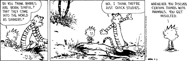 Calvin and Hobbes - evil nature